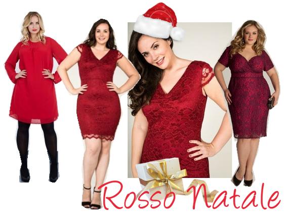 abiti rossi natalizi taglie comode