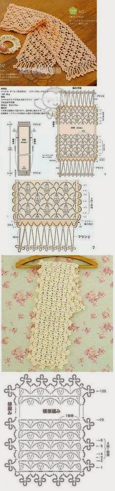 Estola delicada al crochet