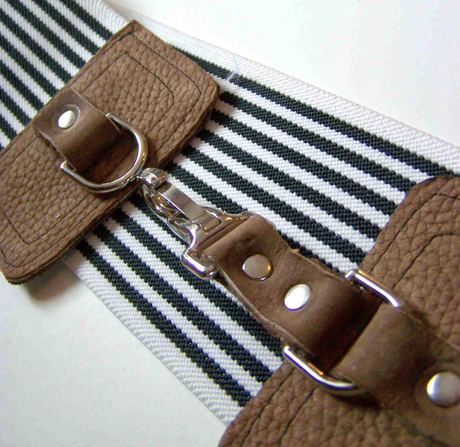 made by me shared with you wide elastic and leather belt