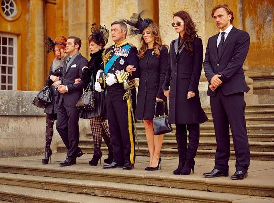 The royals. Toda la familia en el funeral de Robert.