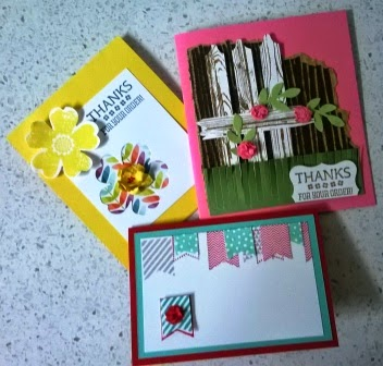 Let's start at the very beginning Thank you cards zena kennedy independant stampin up demonstrator