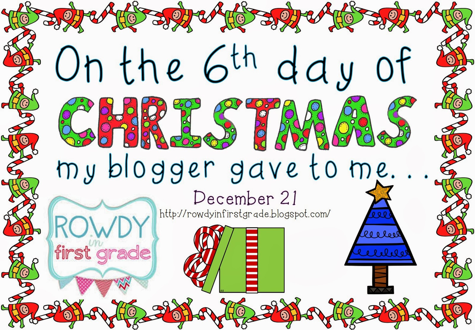 Granny Goes to School: 9 Days of Christmas: Day 6