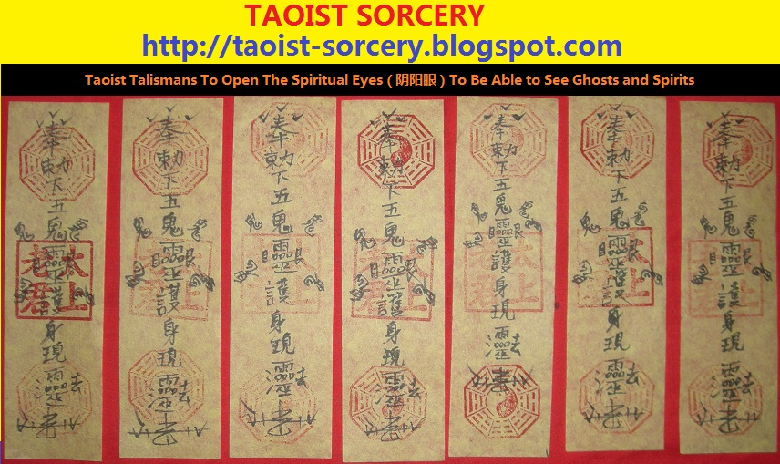 Taoist Sorcery Taoist Talisman To See Ghosts