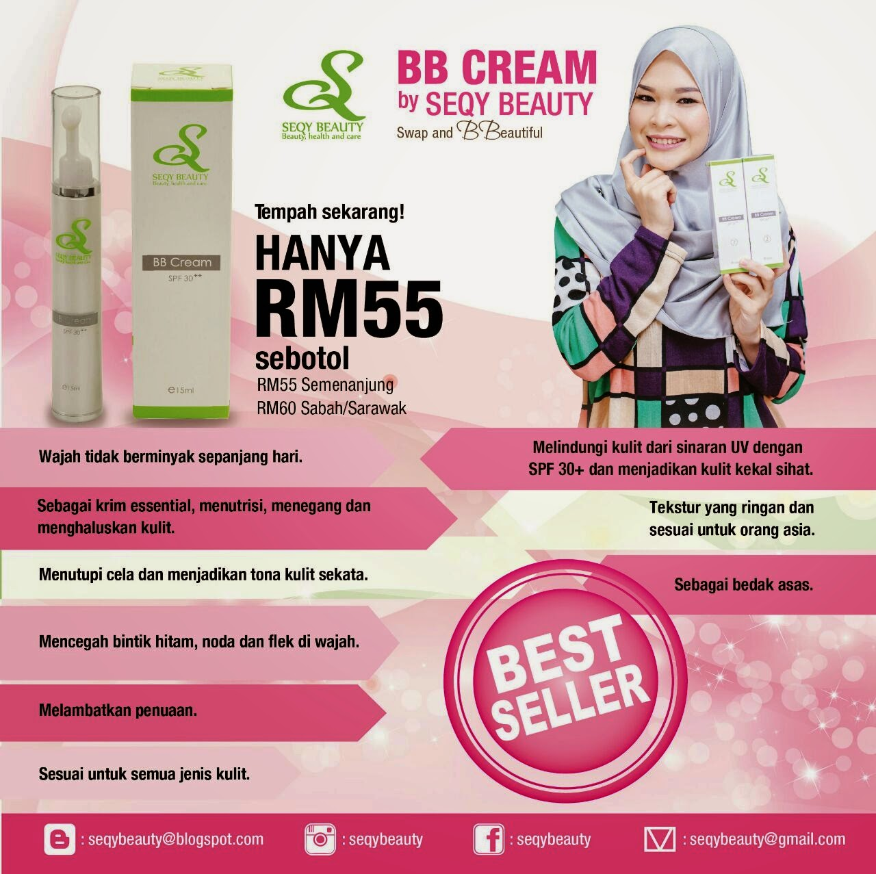Saya jual:Bb cream by Seqy beauty