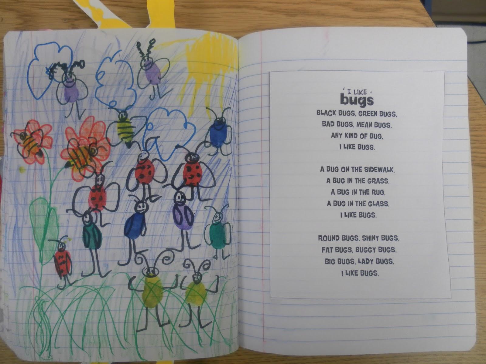 Just 4 Teachers: Sharing Across Borders: I Like Bugs Poem ...