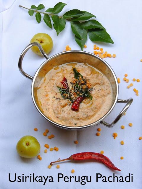 Amla Yogurt Pachadi, Gooseberry Perugu Pachadi