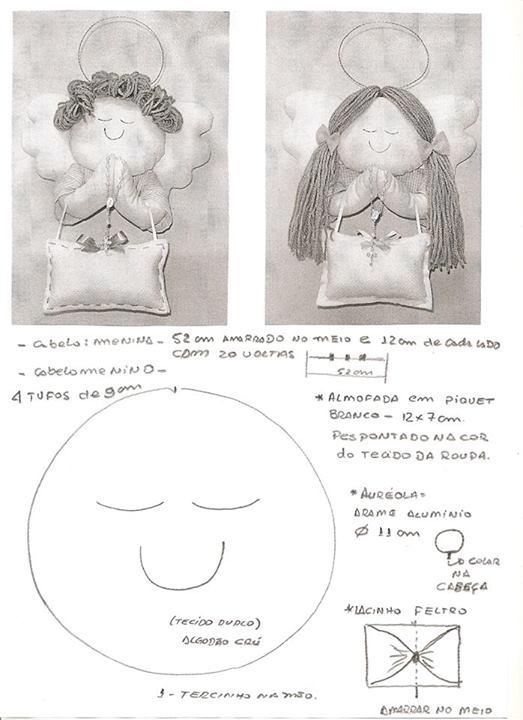 molde de Anjinho porta maternidade