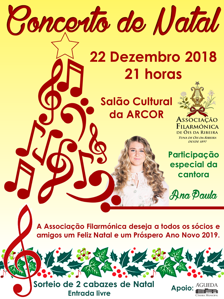 CONCERTO DE NATAL DA TUNA/AFOR  COM A CANTORA ANA PAULA!