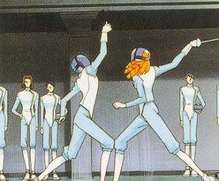 utena anime esgrima fencing