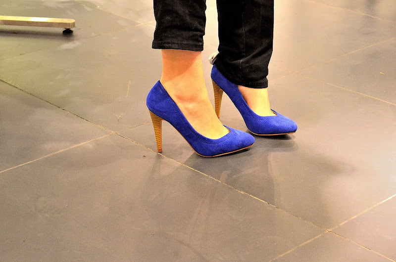 blue suede heels shoes