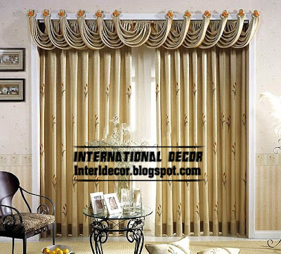 best curtain models 2015, unique draperies model, embossed curtains
