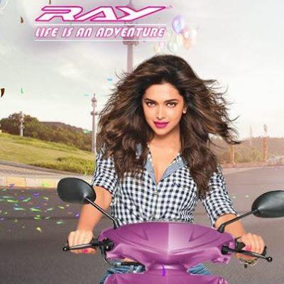Deepika Padukone Photo Shoot for Yamaha Ray Ad
