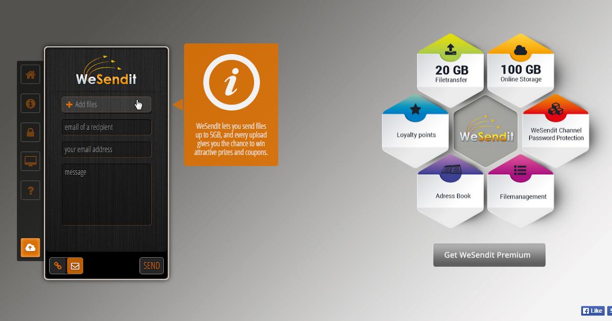 5GB 10GB 20GB 傳送超大檔案的免費免註冊上傳空間