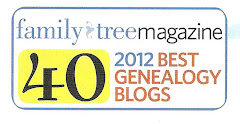 Awarded as one of the 40 Best Genealogy Blogs in 2012