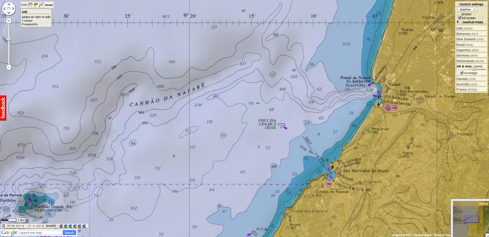 GeoGarage Blog Big Wave Surfing Nazaré Portugal - Portugal map nazare