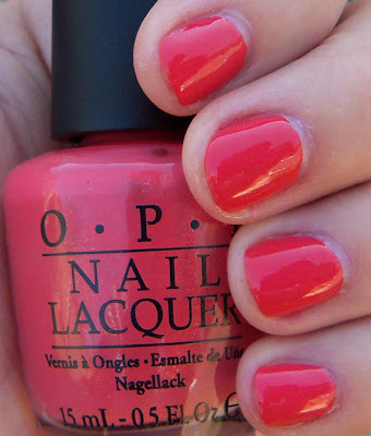 OPI I Eat Mainely Lobster Swatch - Shade