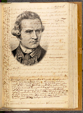 The Endeavour journal of James Cook (1728–1779), founding treasure of the National Library. National Library of Australia 2011.
