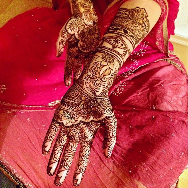 Mehndi designs for full arms  on eid