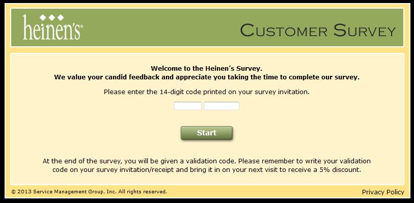 e9e64b08d7f2 Sweepstakes   Online Store Surveys  www.HeinensFeedback.com - Get 5 ...