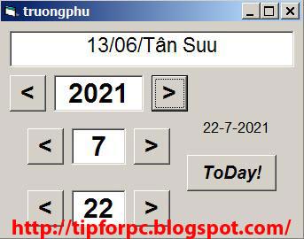 Source Vb6 Mã nguồn phần mềm chuyển Dương Lich sang Âm lịch