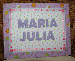 Placa Maria Julia - Patchwork