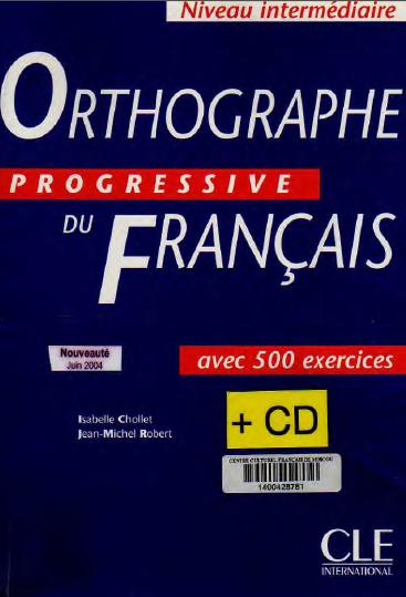 كتاب Orthographe Progressive Du Français تحميل PDF + 500