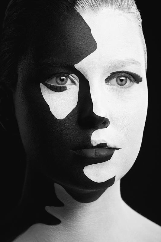 D.W.C. Black & White Face - Artist Alexander Khokhlov