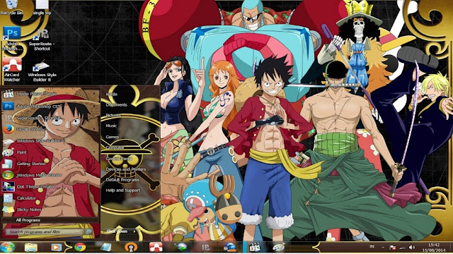 anime themes for pc computer one piece