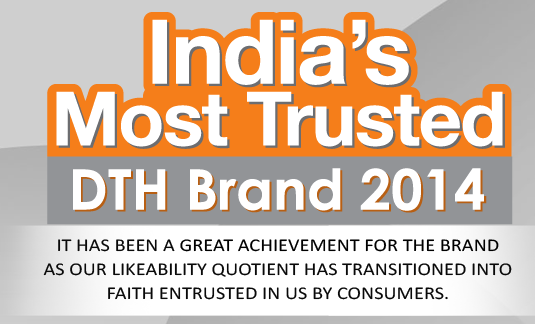Dish TV voted as India's Most trusted DTH Brand