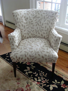 The brown chair transformed into beautiful white one