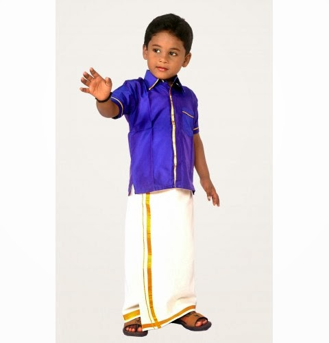 how to wear 8 mulam veshti
