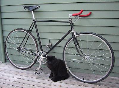 Sepeda Fixie Minimalis Hitam