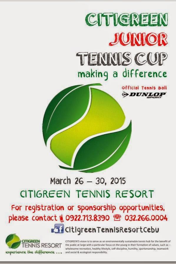 Happening in Cebu: Citigreen Junior Tennis Cup