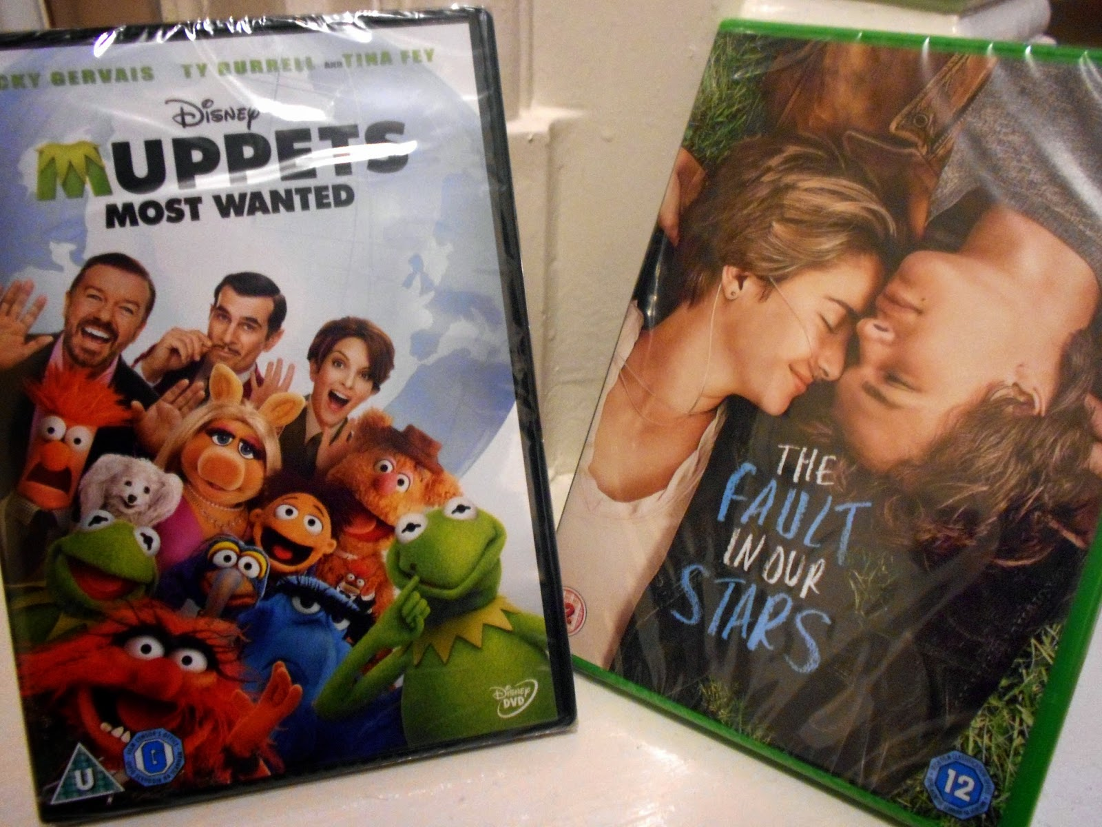 DVDs - Muppets Most Wanted and The Fault In Our Stars