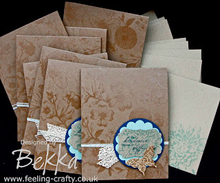 Beautiful Blooming with Kindness Cards by Stampin' Up! Demonstrator Bekka Prideaux as part of the Feeling Crafty Happy Mail Challenge