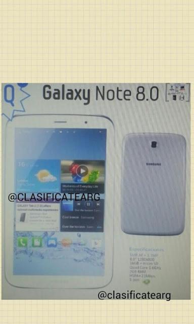 Samsung Mobile, confirmó que su firma presentaría la nueva Galaxy Note 8.0 en el Mobile World Congress 2013 que se llevará a cabo a partir del 25 de febrero en Barcelona. El directivo no había dado demasiados detalles acerca del diseño o las especificaciones del dispositivo pero hoy se ha fiiltrado una supuesta imagen y las características que incorporaría esta nueva tablet. La supuesta Galaxy Note 8.0 posee un diseño similar al Galaxy S3 con bordes finos para aprovechar al máximo el tamaño del dispositivo y así ofrecer una gran pantalla. Además, la imagen viene acompañada de las supuestas especificaciones