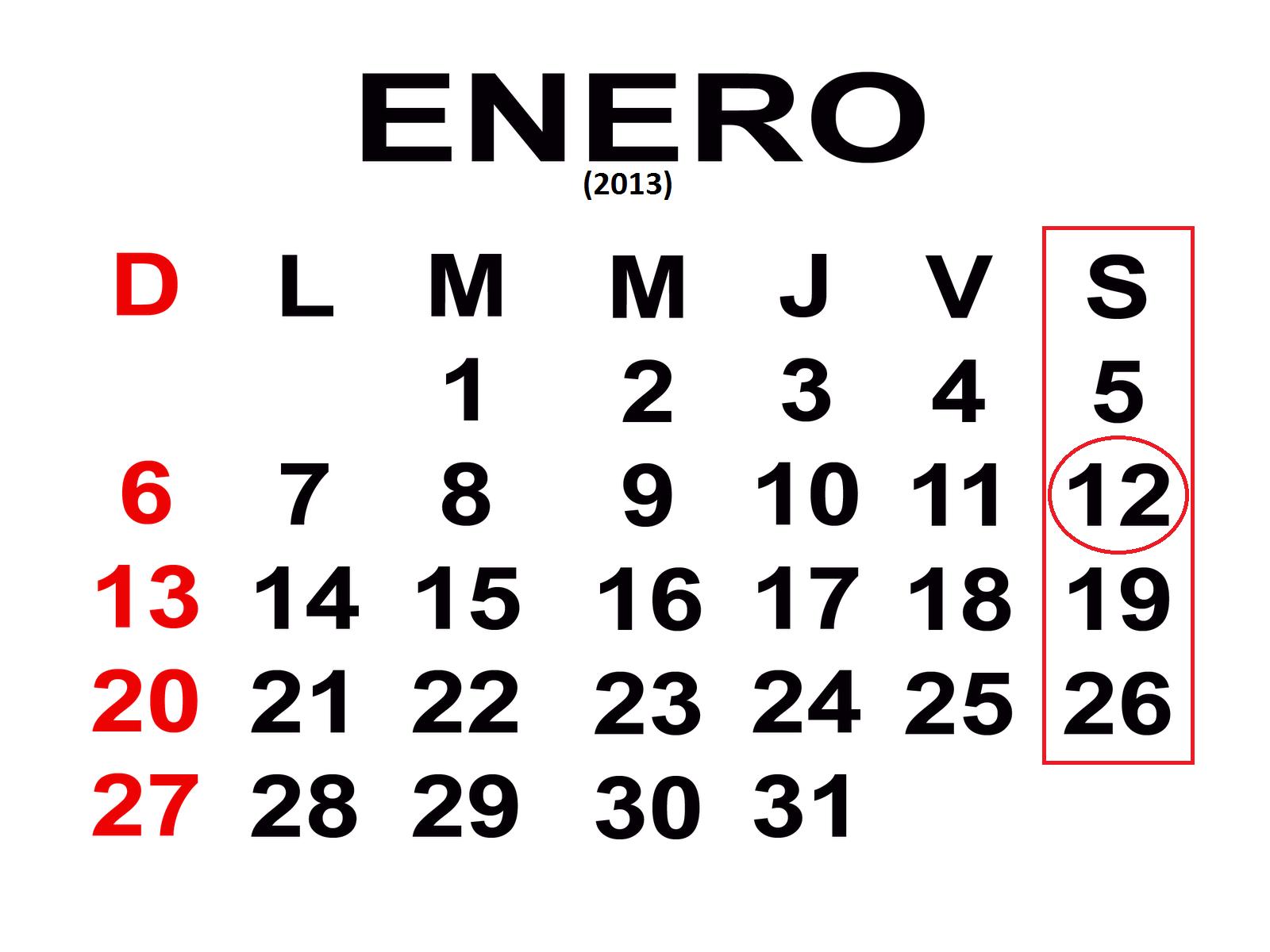 esto paso  s u00c1bado 12 de enero del 2013