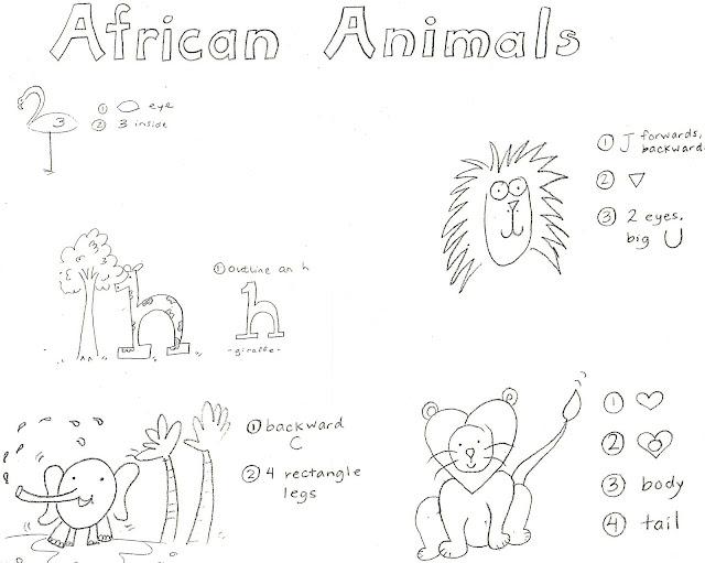 African Animal Drawings Easy