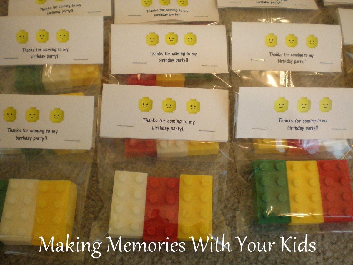 lego birthday party the goody bags making memories with your kids