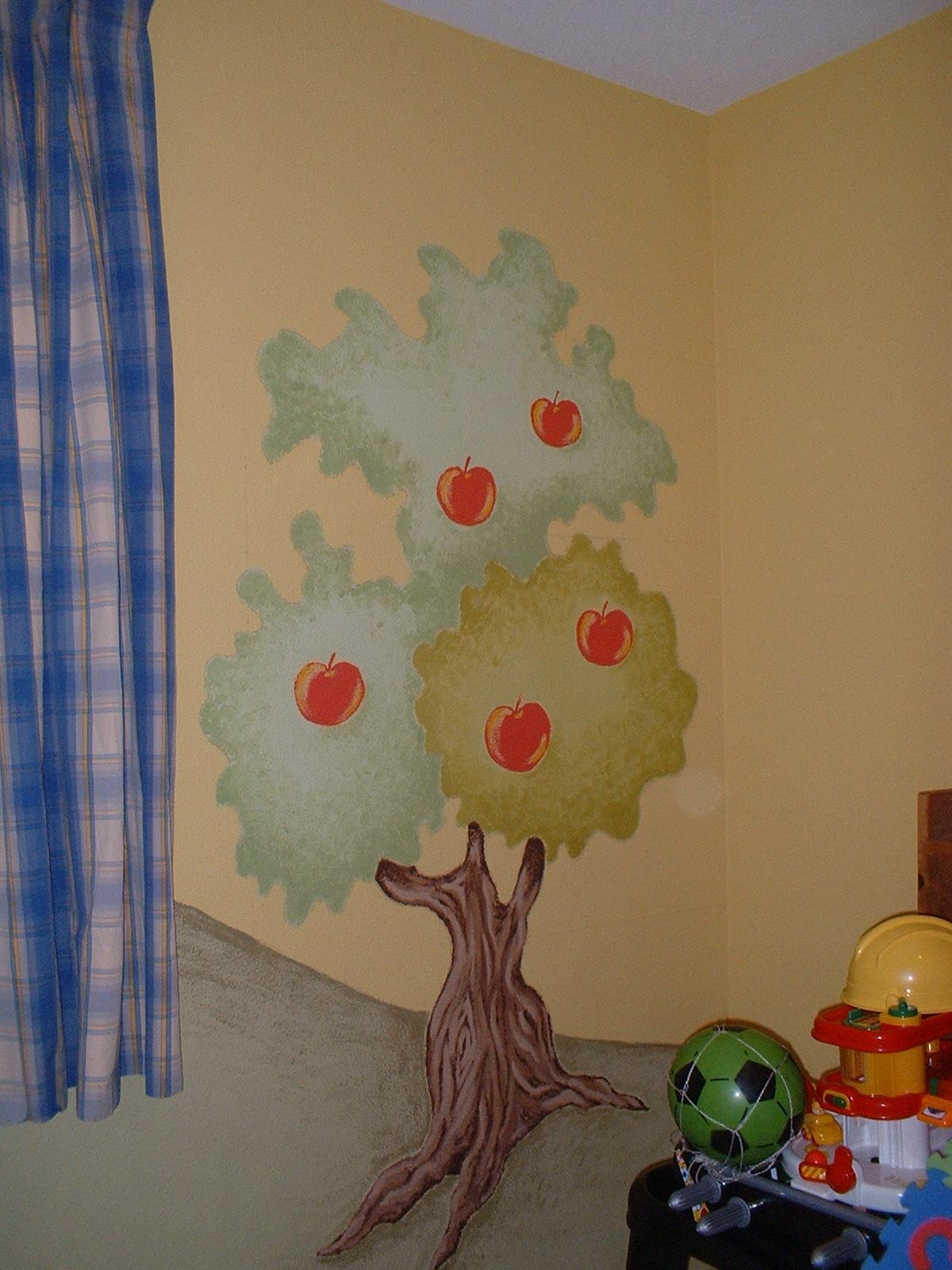 Murales infantiles pintados a mano 9 cuarto de juegos - Murales pintados a mano ...