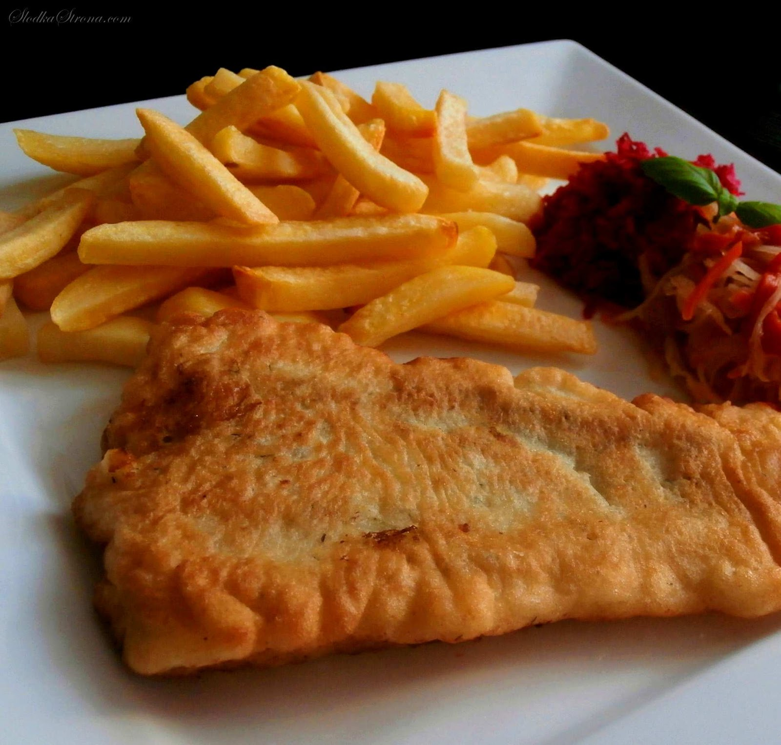 """- Ryba w Cieście z Frytkami - """"Fish & Chips"""" - Przepis - Słodka Strona"""
