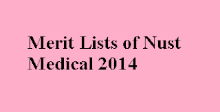 Merit list of Nust