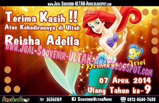 Thank Card Princess Ariel Sample Tema Design Thanks Card (Kartu Ucapan Terima Kasih)