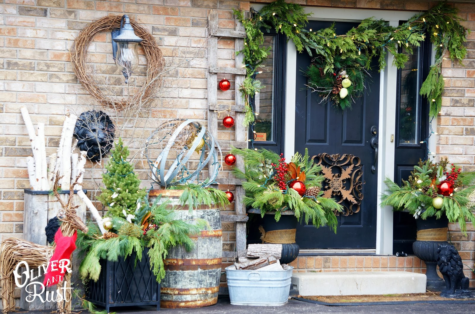 Oliver And Rust Christmas House Tour Part 4 The Outdoors