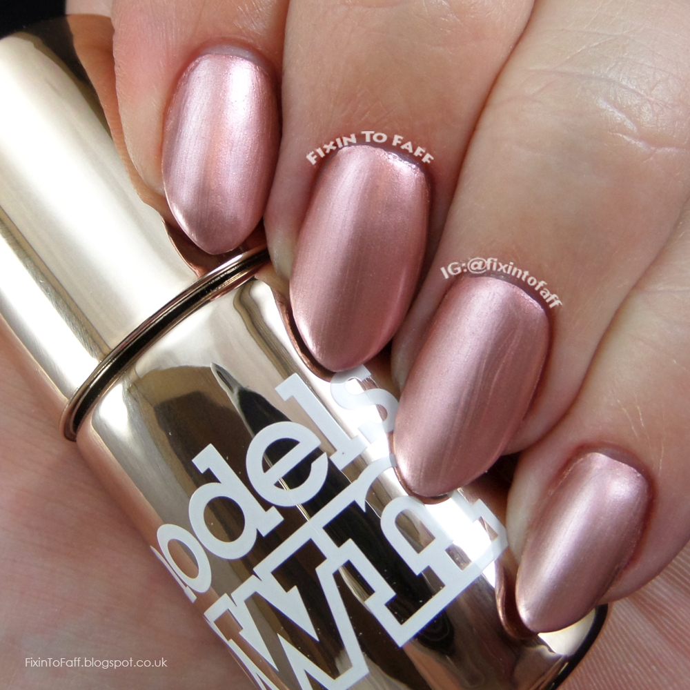 Swatch and review of Models Own Colour Chrome collection, Chrome Rose