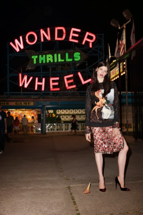 Lily McMenamy in Coney Island by Terry Richardson