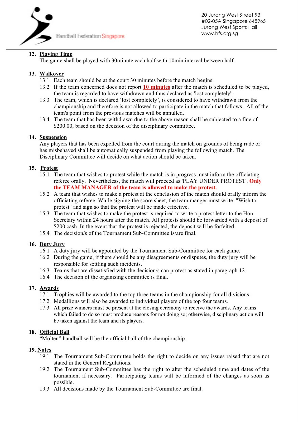 Handball Rules And Regulations Team Handball Rules 2