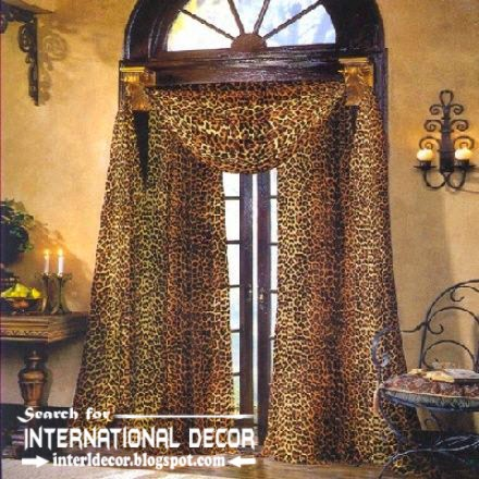 Leopard Patterned Curtains Scarf For Living Room 2015 Door