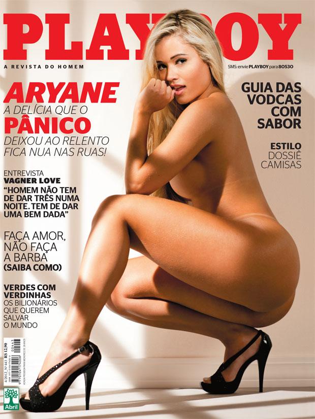 Aryane Steinkopf na capa da edição de abril da Playboy