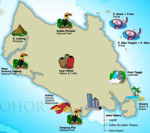 Johor - State And Attractions